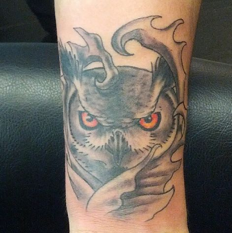 #owl #tattoo by Mikey.