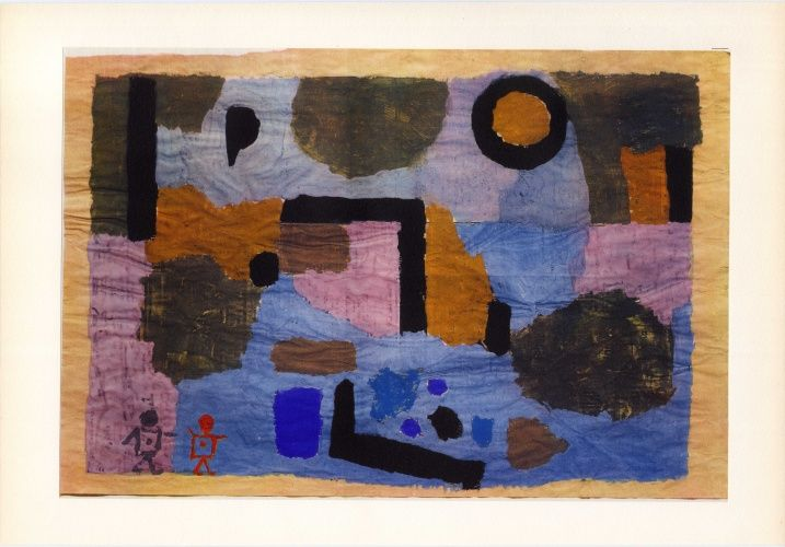 Paul Klee 'With the Two Figures' 1938 9 1/4 x 14 1/4""