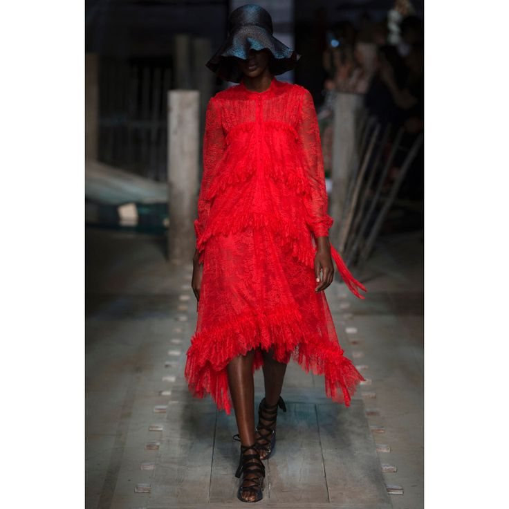 Erdem. #red #lace #dress #Vogue #VogueRussia #readytowear #rtw #springsummer2017 #Erdem #VogueCollections