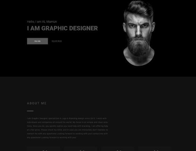 Free Dark Personal Portfolio Template Psd Titanui Personal Portfolio Portfolio Templates Portfolio
