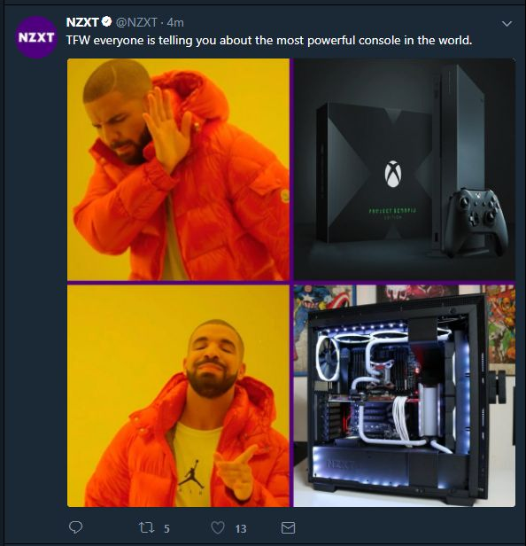 NZXT on the PC Meme train http://ift.tt/2hTBNeo Check out Mystikz Gaming http://ift.tt/2tVNFmJ
