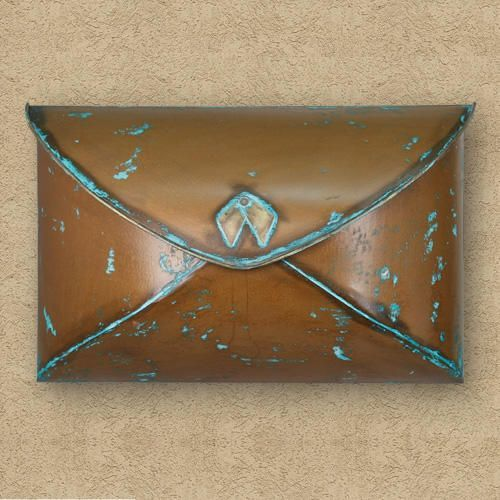 Envelope Wall-Mount Mailbox - Antique Silver