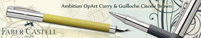 Faber Castell Ambition OpArt Curry & Guilloche Ciscele Brown Fountain pens  http://www.penboutique.com/m-13-faber-castell.aspx  #Fabercastell #Penboutique #Pens #Gift #Writing
