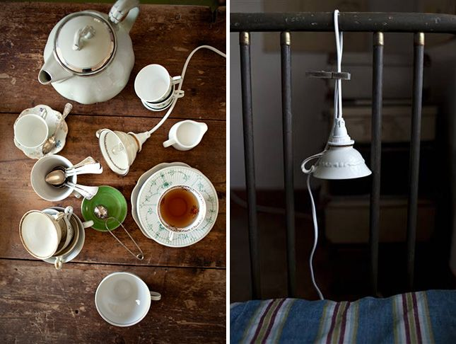 Turn a teacup into a lamp with these step by step instructions.