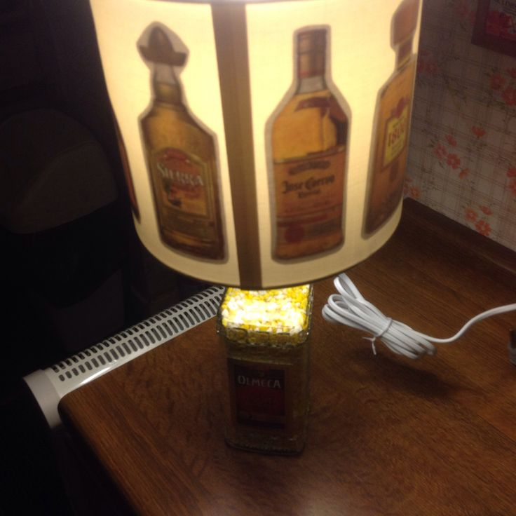 Custom and handmade tequila bottles lampshade for my tequila lamp (view 3)