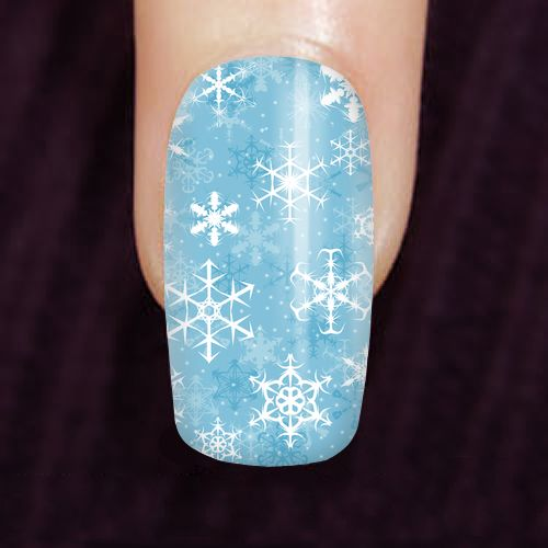 Snowflakes Nails - Available Here: http://www.customdropshipping.com/personalized-design/personalized/snowflakes-custom-finger-nails-47267