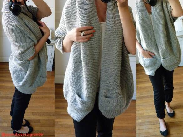 free knitting pattern for a cozy cardigan (link to english pattern at the bottom of the post)