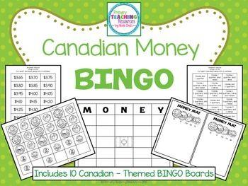 $ Canadian Money BINGO