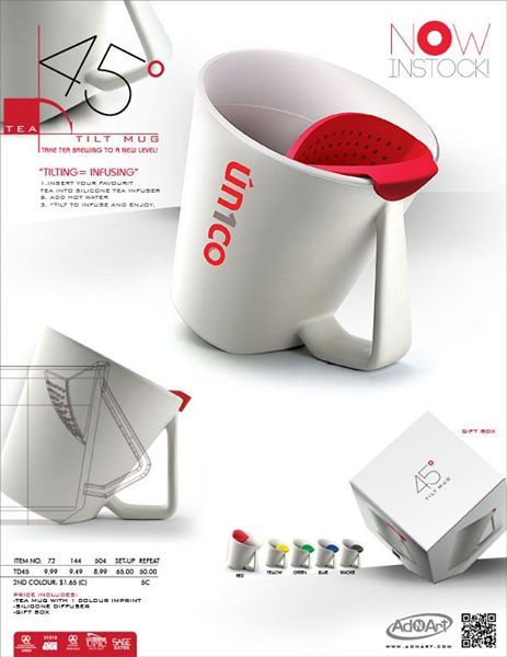 TEA 45 TILT MUG - NOW IN STOCK! Cool new drinkware!