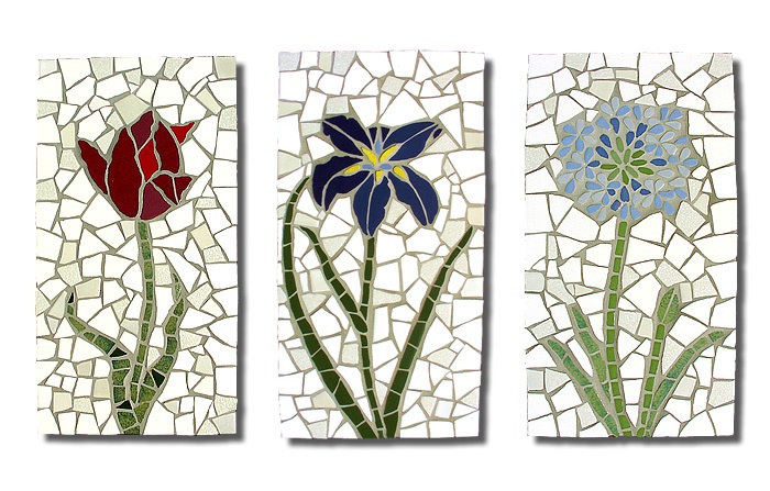 Flowers Wall Hanging Mosaics