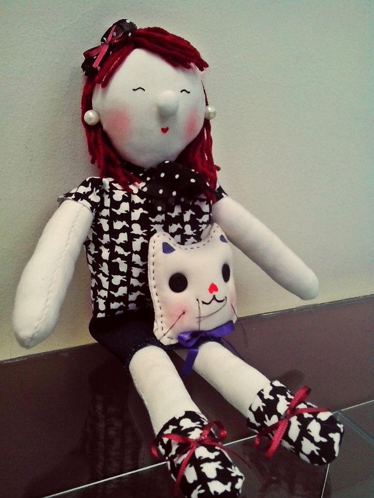 Muñeca 100% hecha mano- Hand made doll