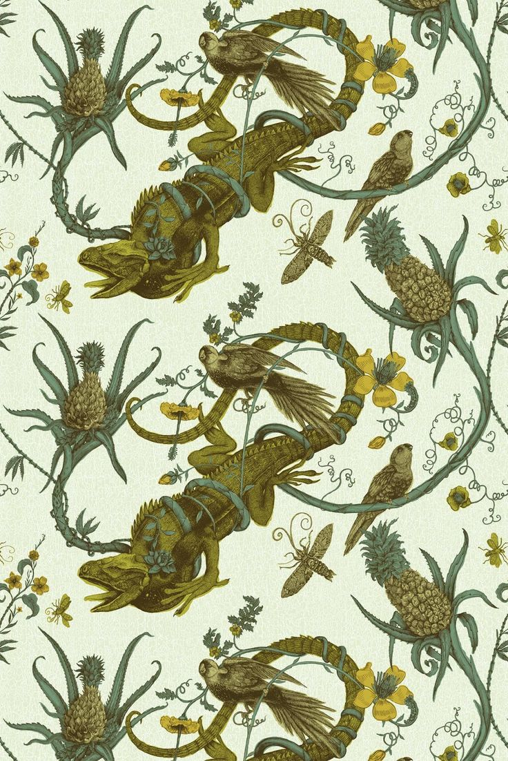 Timorous Beasties Fabric - Iguana fabric