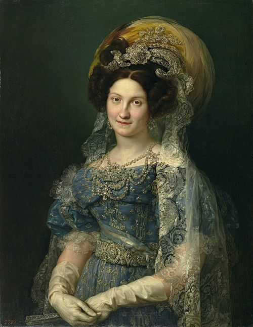 Princess Maria Cristina of Two Sicillies, later Queen María Cristina of Spain (27 April 1806 – 22 August 1878). Description from pinterest.com. I searched for this on bing.com/images
