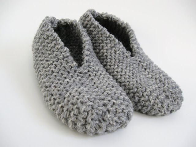 easy knittted slipper, free pattern | Anny May