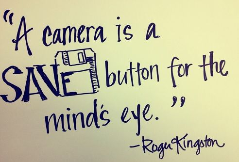 """A camera is a save button for the mind's eye."""