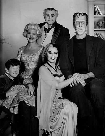 The Munsters is an American television sitcom depicting the home life of a family of benign monsters. It stars Fred Gwynne as Herman Munster and Yvonne De Carlo as his wife, Lily Munster. The series was a satire of both traditional monster movies and the wholesome family fare of the era, and was produced by the creators of Leave It to Beaver. It ran concurrently with The Addams Family.