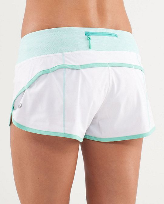 If only I could wear white :-/ oh well that's more of a reason to get fit! lululemon running short