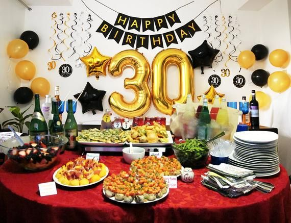 30th Birthday For Him Decorations For Man Woman Her Happy 30th Birthday Ideas 30 Years 30th Birthday Party Balloons Decor 50th Birthday Party Decorations Birthday Decorations For Men 30th Birthday Party Decorations