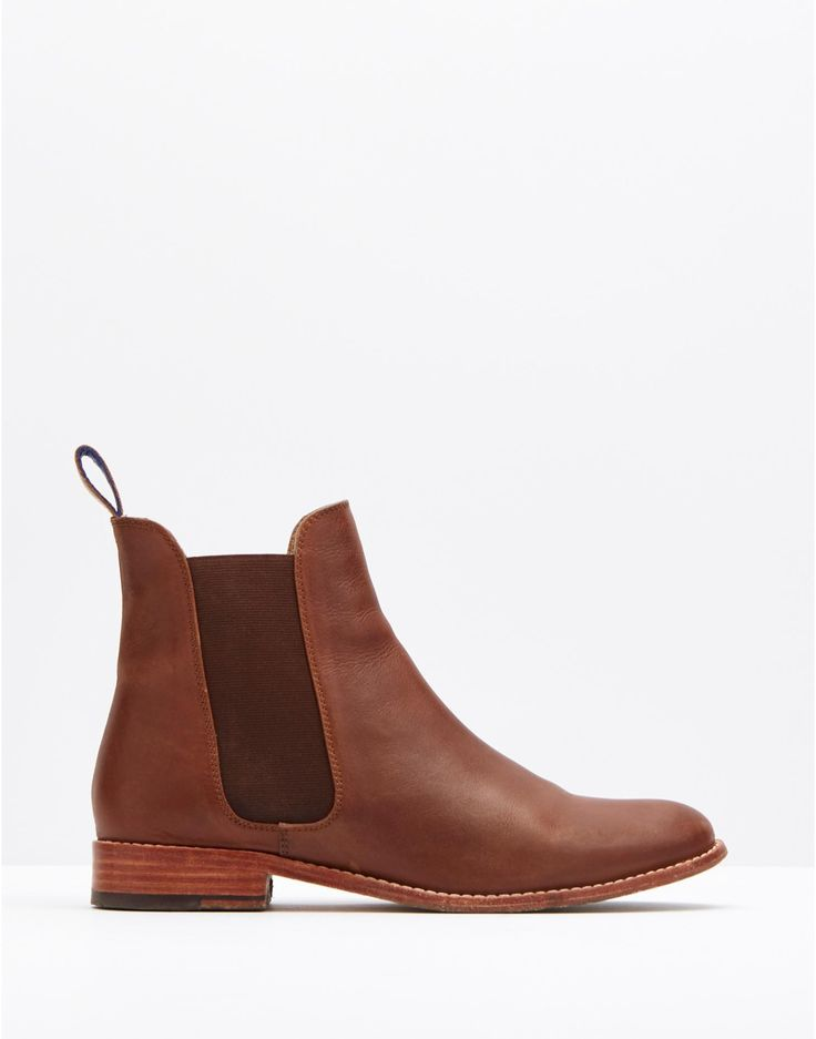 Joules Leather Chelsea Boot, Dark Brown.                     Everyone has a pair of boots that are a go-to favourite and we're certain that these wear-with-anything Chelsea boots will become yours. Crafted from chestnut brown leather they're both versatile and comfortable too.