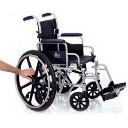 Silla de ruedas de aluminio Oxford. Con la silla de ruedas de aluminio Oxford tendrás dos sillas en una, ya que es convertible de silla de ruedas autopropulsable a silla de ruedas de tránsito, sólo tendrás que cambiarle las ruedas. Además podrás escoger los accesorios que necesites para ajustarla a tus necesidades.