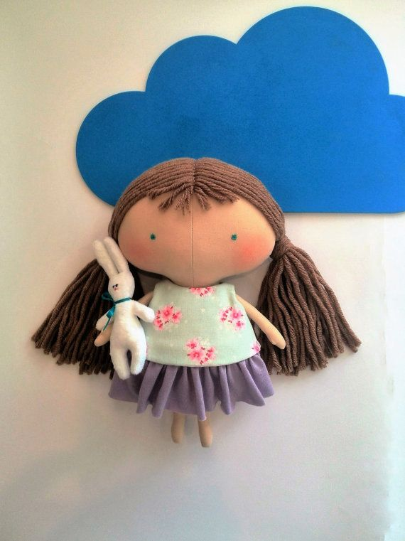 Tilda doll  Baby gifts for girls Rag doll Bunny plush Handmade