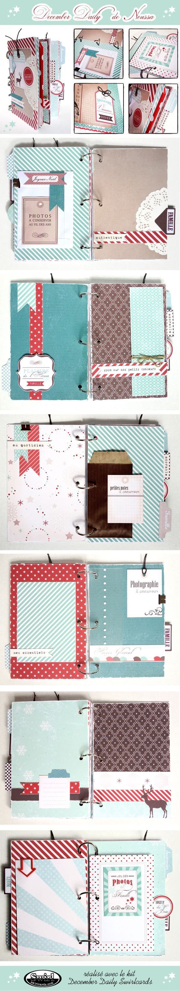 December Daily de Noussa - kit Swirlcards: