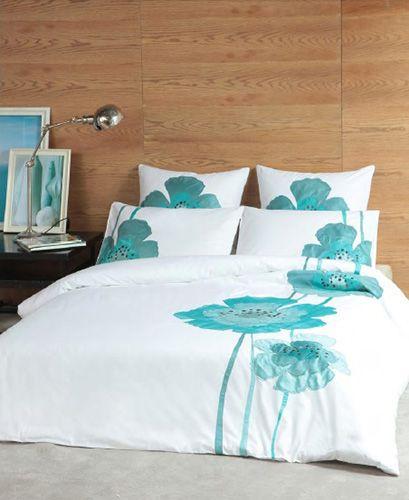 les 25 meilleures id es de la cat gorie couette sarcelle sur pinterest literie sarcelle et. Black Bedroom Furniture Sets. Home Design Ideas