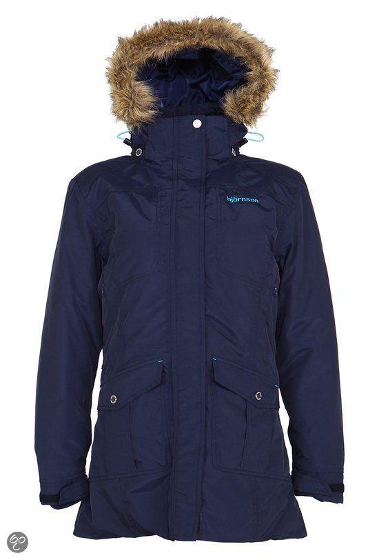 Bjornson Malin - Winterjas - Dames - Maat 42 (XL) - Donkerblauw