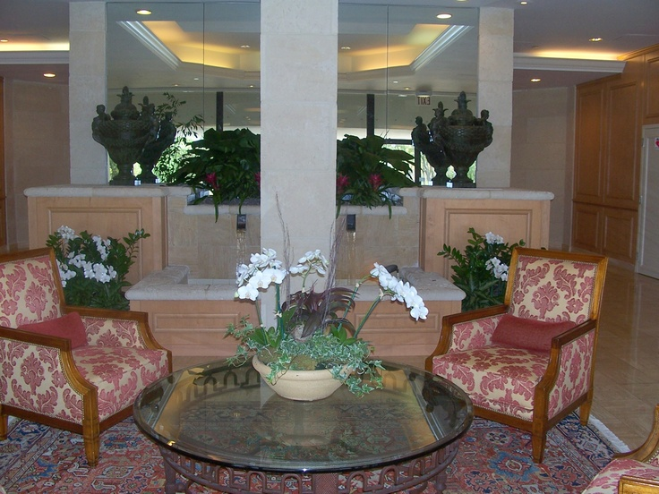 Condo lobby on A1A in Palm Beach County, FL