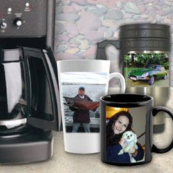 Decorate a mug with our own favorite image and everyone will know that this mug belongs to you, and you only! Don't forget, these photo mugs make great personalized gifts for any occasion. We even have stainless steel travel mugs and porcelain beer steins.