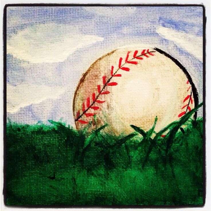 Baseball painting