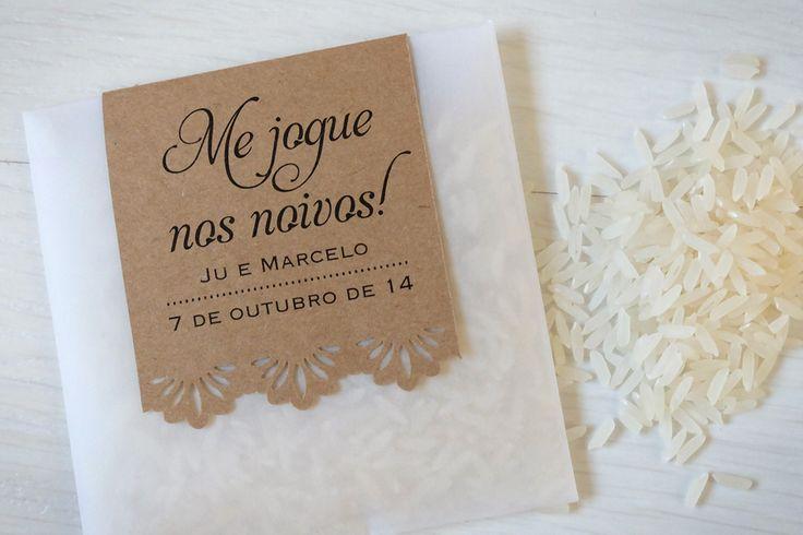 Detalhe para casamento no campo - Saquinho de arroz - Foto Chá das Duas