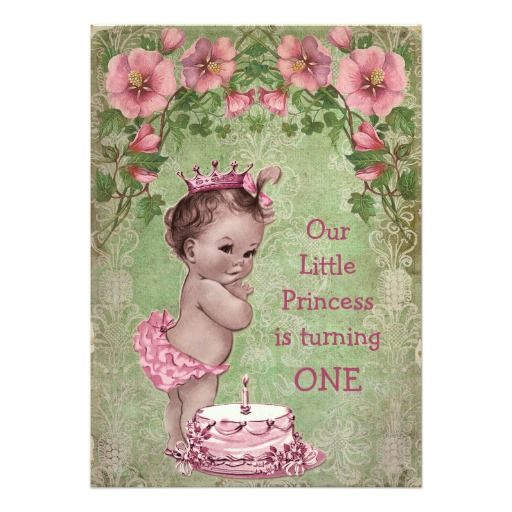 Images Of Vintage Girls First Birthday Card: 1000+ Images About Candle Birthday Invitations On