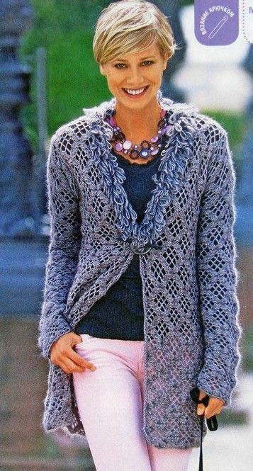 Blue Jacket free crochet graph pattern ❥Teresa Restegui http://www.pinterest.com/teretegui/❥