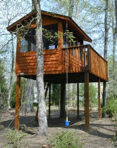 Kids Tree House Plans Designs Free 20 best treehouse / clubhouse images on pinterest | backyard ideas