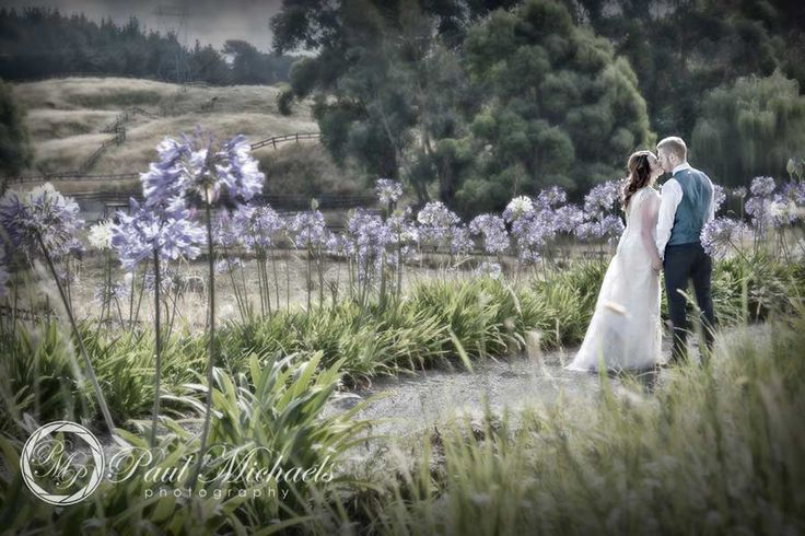 Kiss in the grounds at Sudbury farm.  #wedding #photography. PaulMichaels www.paulmichaels.co.nz photographers