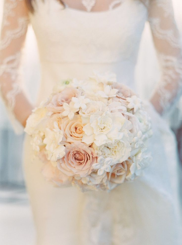 Photography : Jacqueline Dallimore | Floral Design : Kim Starr Wise | Wedding Dress : Amsale Read More on SMP: http://www.stylemepretty.com/louisiana-weddings/new-orleans/french-quarter/2015/05/18/glamorous-new-orleans-french-quarter-wedding/