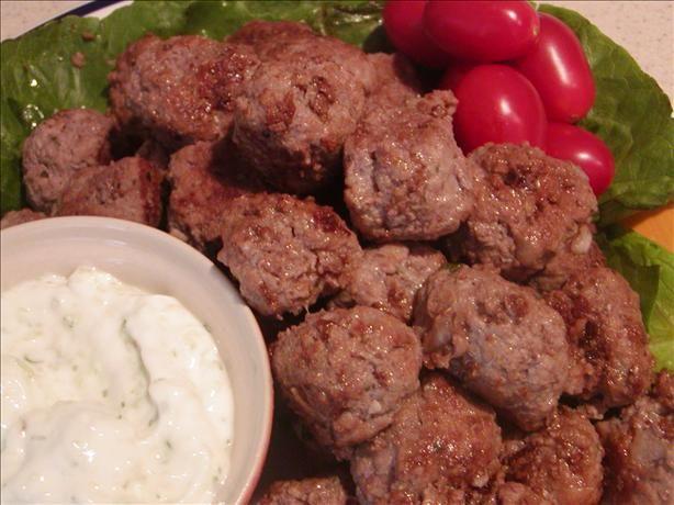 Keftedakia Greek Meatballs) Recipe - Greek.Food.com // Substituted 2/3 ...