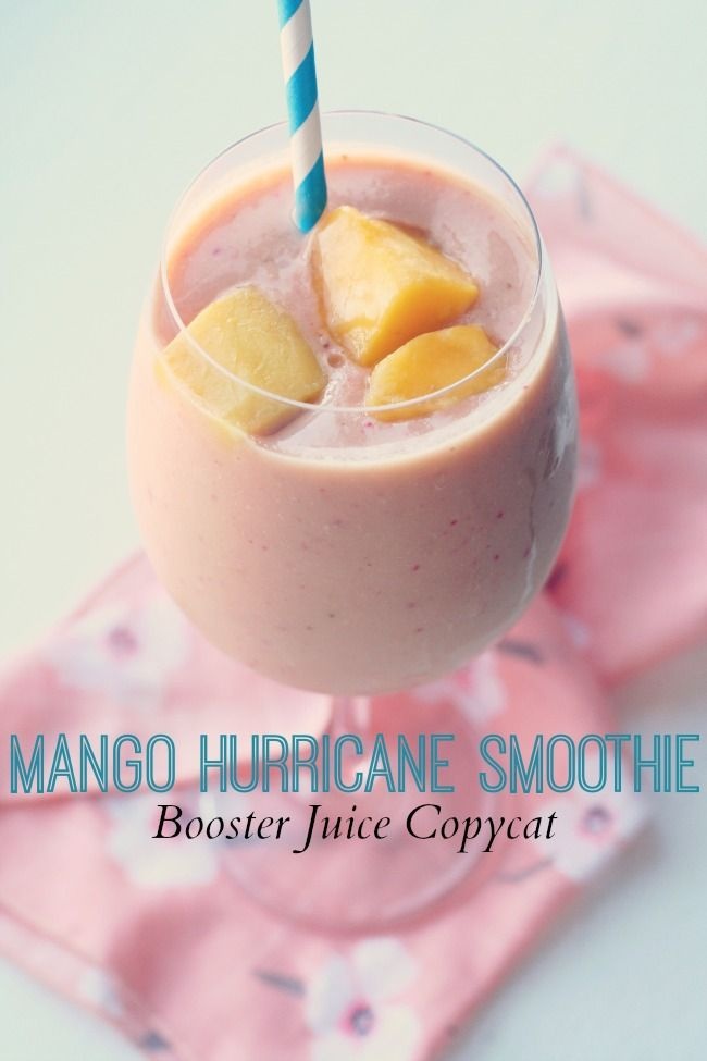 Mango Hurricane Smoothie (Booster Juice Copycat) #dairyfree #detox #smoothies