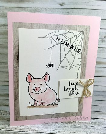 This LIttle Piggy Charlotte's Web www.stampcrazywithalison.ca