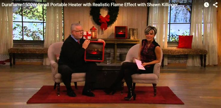Best Portable room heater - Red Duraflame Heater