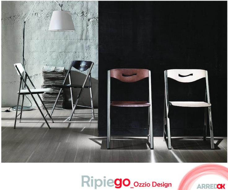 #Ripiego by OZZIO DESIGN è la #sedia che si richiude e si archivia in uno spazio fisico minimo. Un grande vantaggio di questi tempi, in cui gli spazi abitativi si riducono. Leggerezza formale e look giovane per una sedia di forte mix-appeal e grande fascino espressivo. http://arredok.com/sedia-pieghevole-ripiego-ozzio-design.html — presso www.arredok.com.