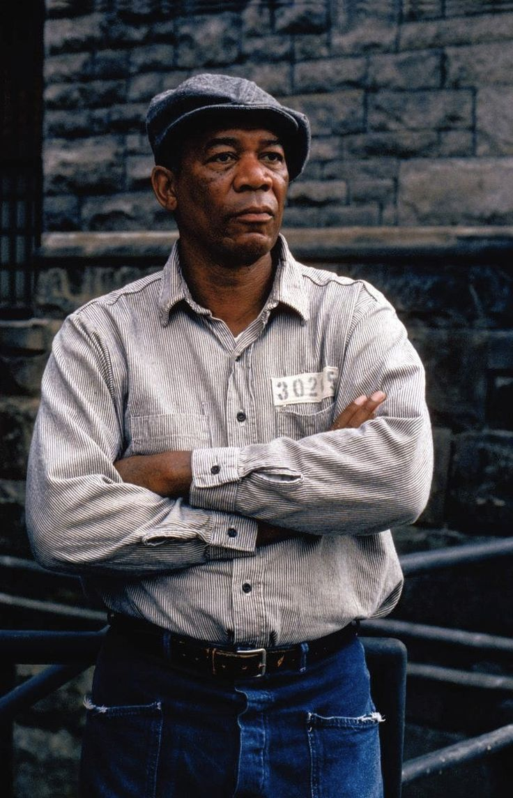 Morgan Freeman, The Shawshank Redemption. One of my favorite actors in one of my favorite movies.