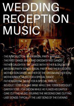 reception music for wedding
