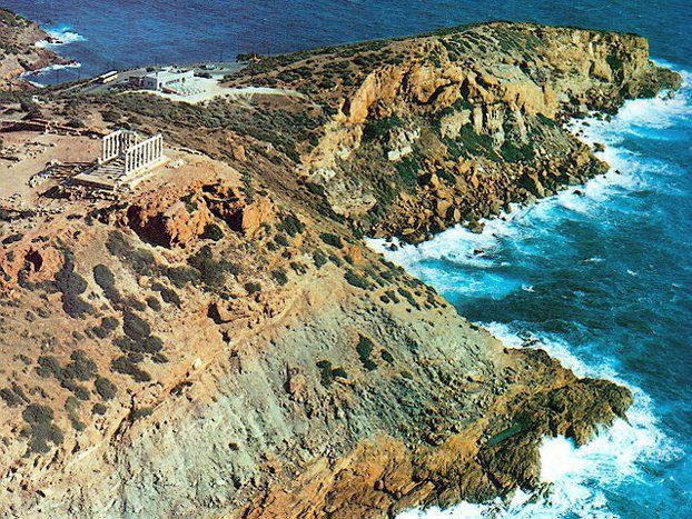 Sounion aerial view
