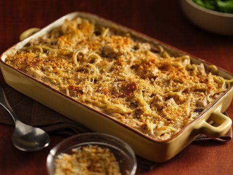 Tetrazzini - Enjoy hearty chicken and spaghetti tetrazzini for dinner – baked using Progresso™ Recipe Starters™ mushroom cooking sauce.