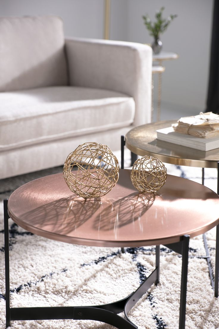 Copper Metal Side Table 55 best Coffee