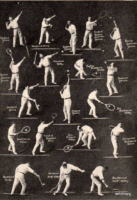 1920 How to Play Tennis. Come on, this is too cool!