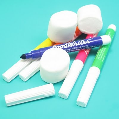 Edible Markers on Marshmallows!