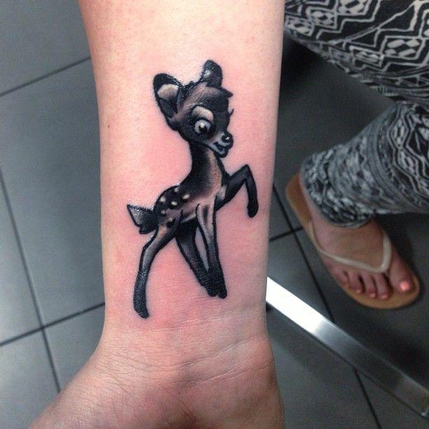 disney bambi tattoo portfolio neotraditional tattoos pinterest. Black Bedroom Furniture Sets. Home Design Ideas